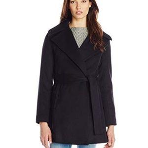 Trina Turk Women' Beverlee Wool Blend Wrap Coat